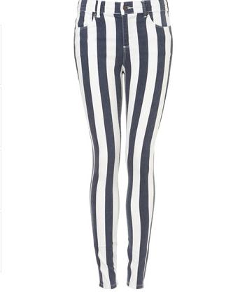 gestreifte Jeans von J. W. Anderson for Topshop