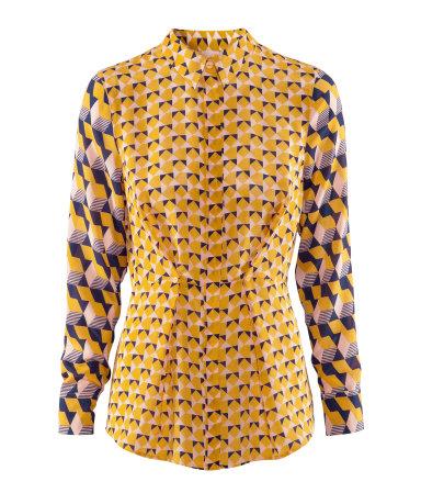 gemusterte Bluse von H&M