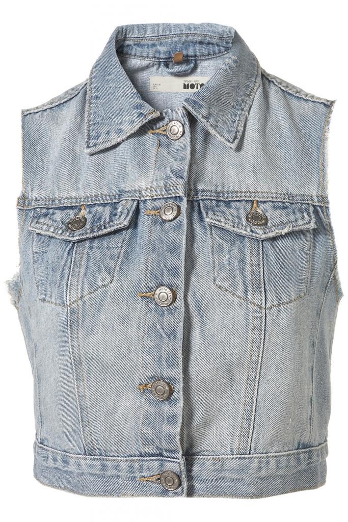 Jeansweste von Topshop