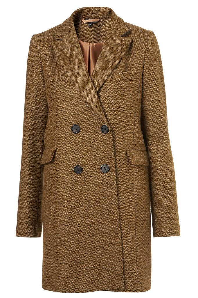 Mantel aus Tweed von Topshop
