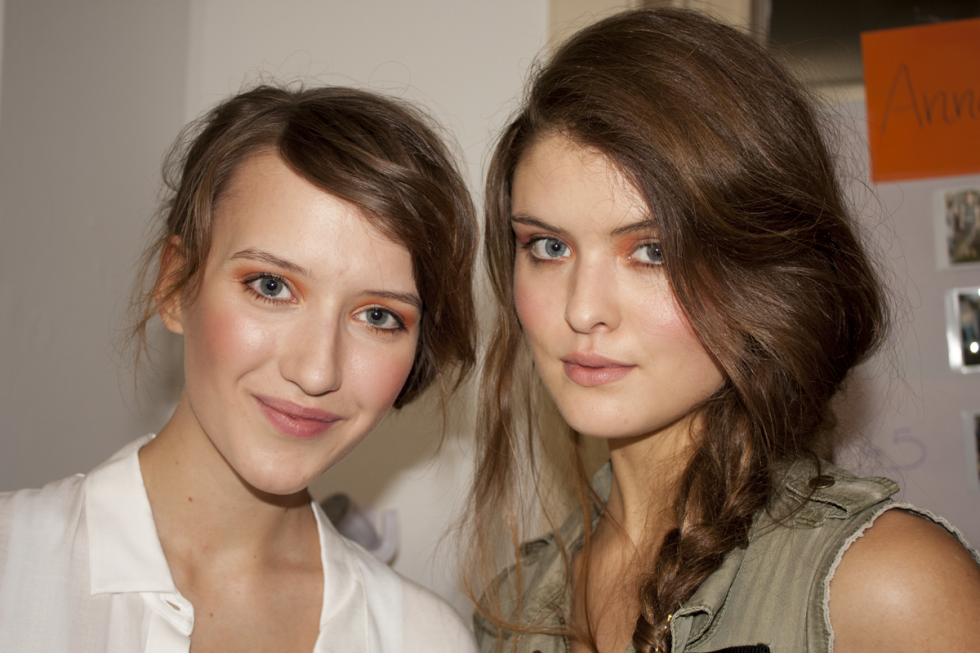 Beauty Backstage bei der frontlineshop Fashion Show SS13