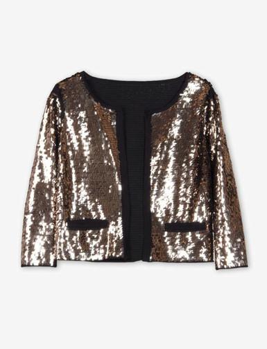 Goldene Jacke mit Pailletten von Sandro