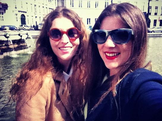 Mit der Schwester in Brüssel