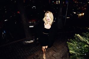 Elin Kling in Moskau einen Abend vor Köln