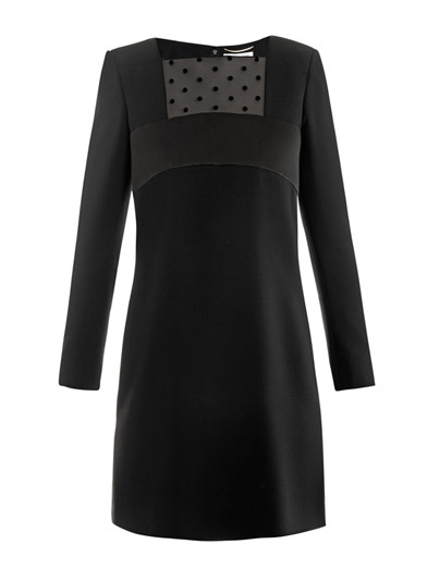 Saint-Laurent-Shift-Kleid-Matchesfashion