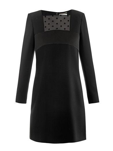 Saint-Laurent-Shift-Kleid-Matchesfashion