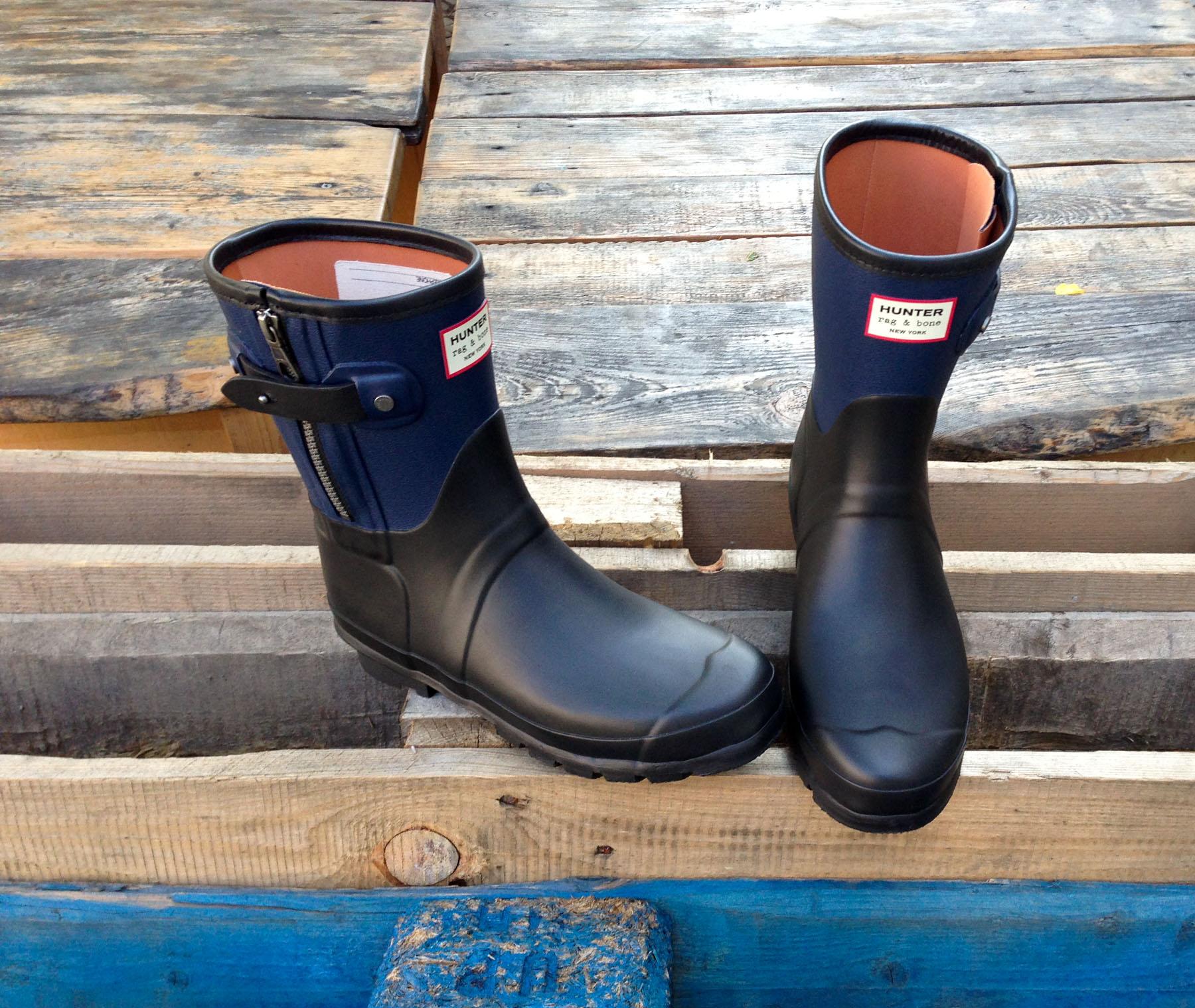 sports shoes 23dac 117e9 Trend du JOUR: Moto Boot Gummistiefel von Hunter + rag&bone ...