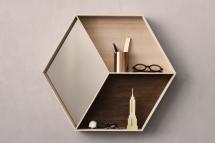 Wonder Wall Mirror von ferm living in Braun/Creme