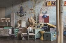 Möbelstück bemalt mit den Farben von Farrow & Ball