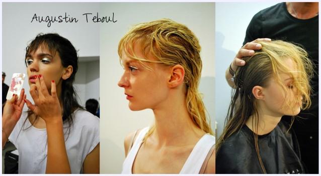Das Hair- und Make-up Styling Backstage bei Augustin Teboul