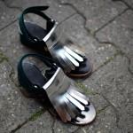 marni metallic slipper