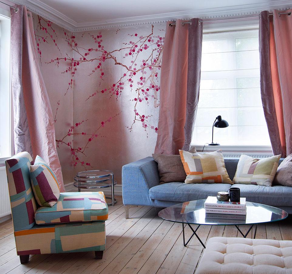 wohnen tapeten von de gournay kunst f r die w nde journelles. Black Bedroom Furniture Sets. Home Design Ideas