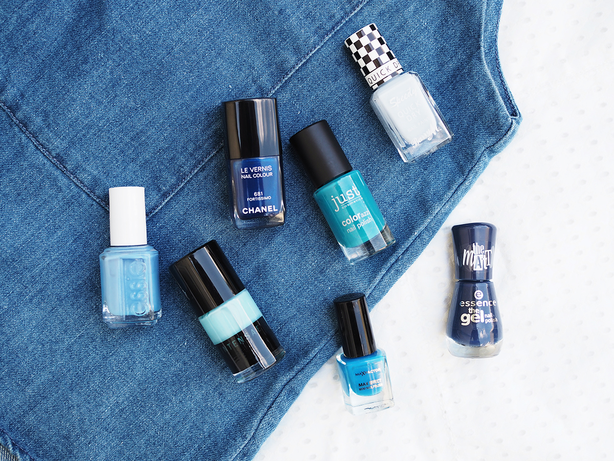 Beauty Trend Nagellack In Blau Tönen Journelles