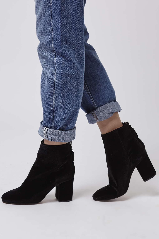 Samt Boots Topshop