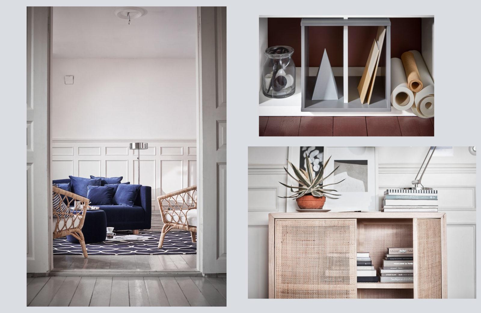 Samt Rattan Und Viel Blau Die Ikea Stockholm Und Ps Kollektionen