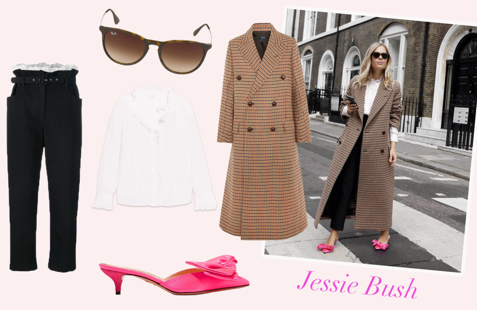 97dee95bbed1b7 Auf Jessie Bush ist in Sachen Streetstyle Verlass. Sie kombiniert in ihrem  Look die zwei Trends, die wir bei den vorher gezeigten Outfits gesehen  haben: ...