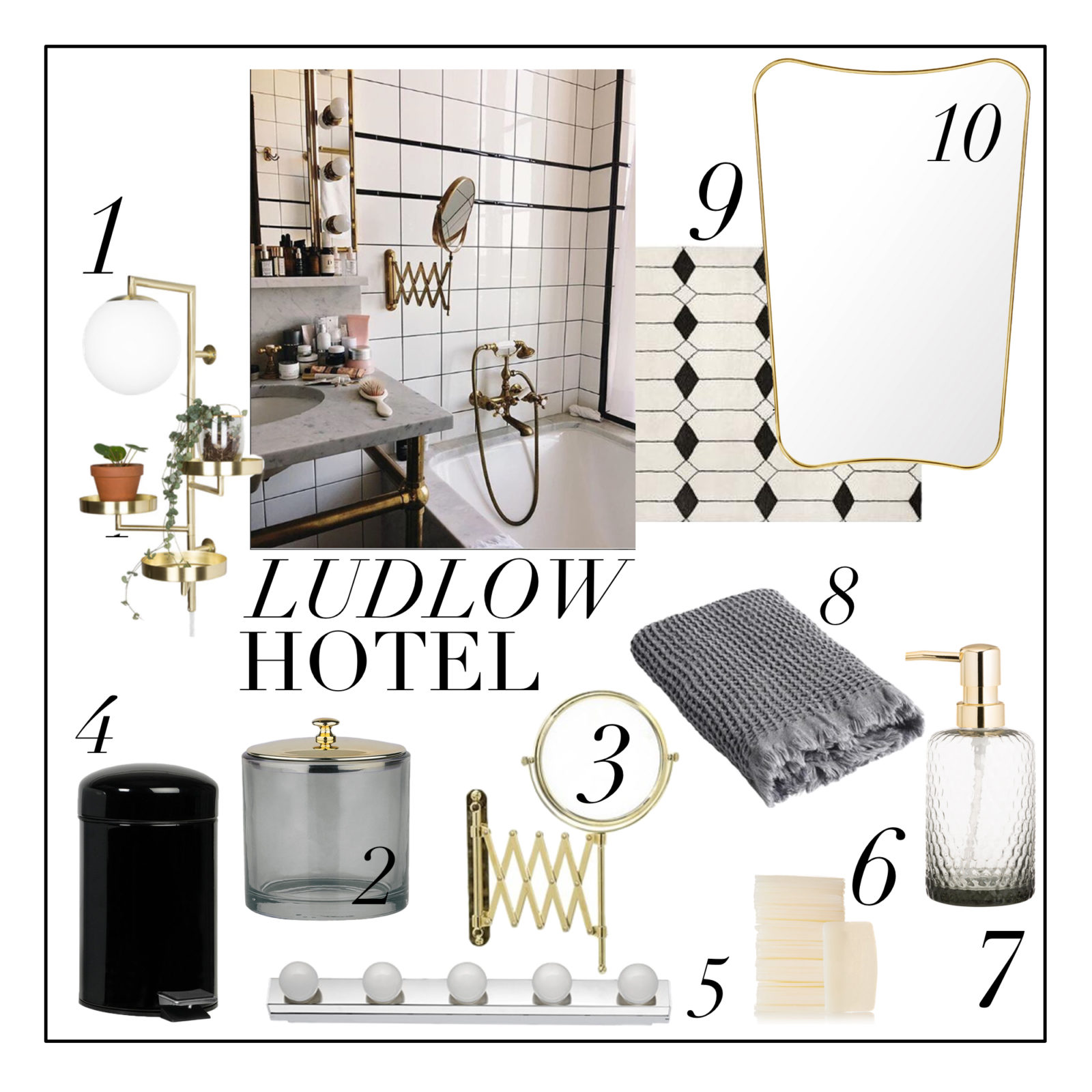 Badezimmer-Makeover: Inspiration vom The Ludlow Hotel in New York ...