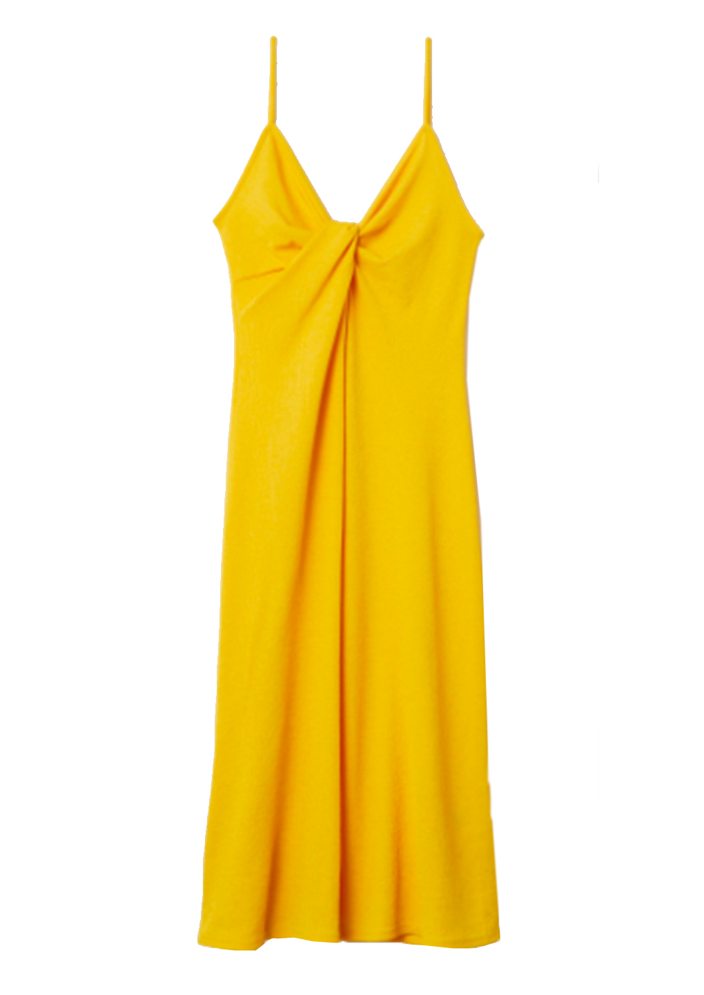 h und m kleid gelb