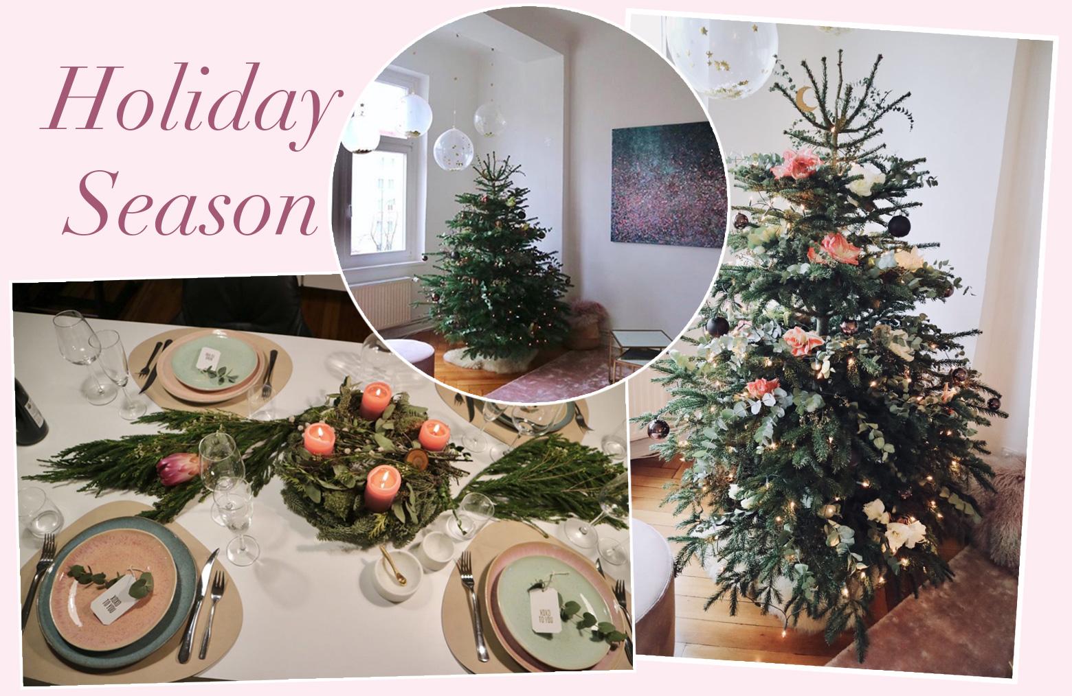 Weihnachtsbaum Weihnachten.Der Blumige Weihnachtsbaum So Dekoriert Jessie Ihre Wohnung Zu