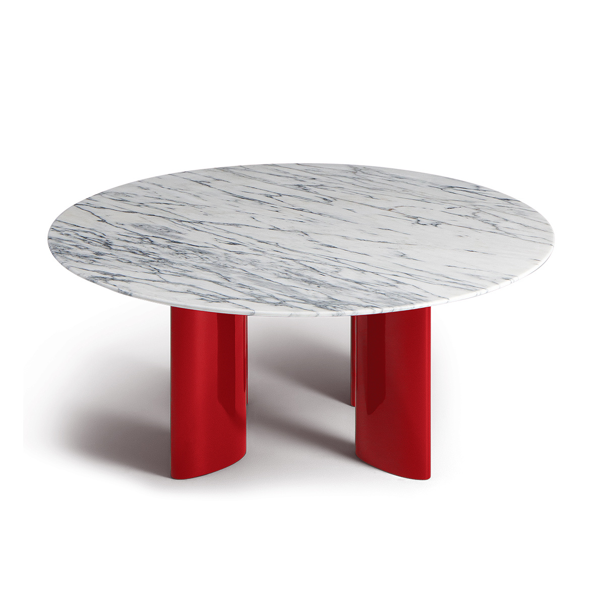 - Carlotta-coffee-table-white-marble-top-and-red-legs (1) - Journelles