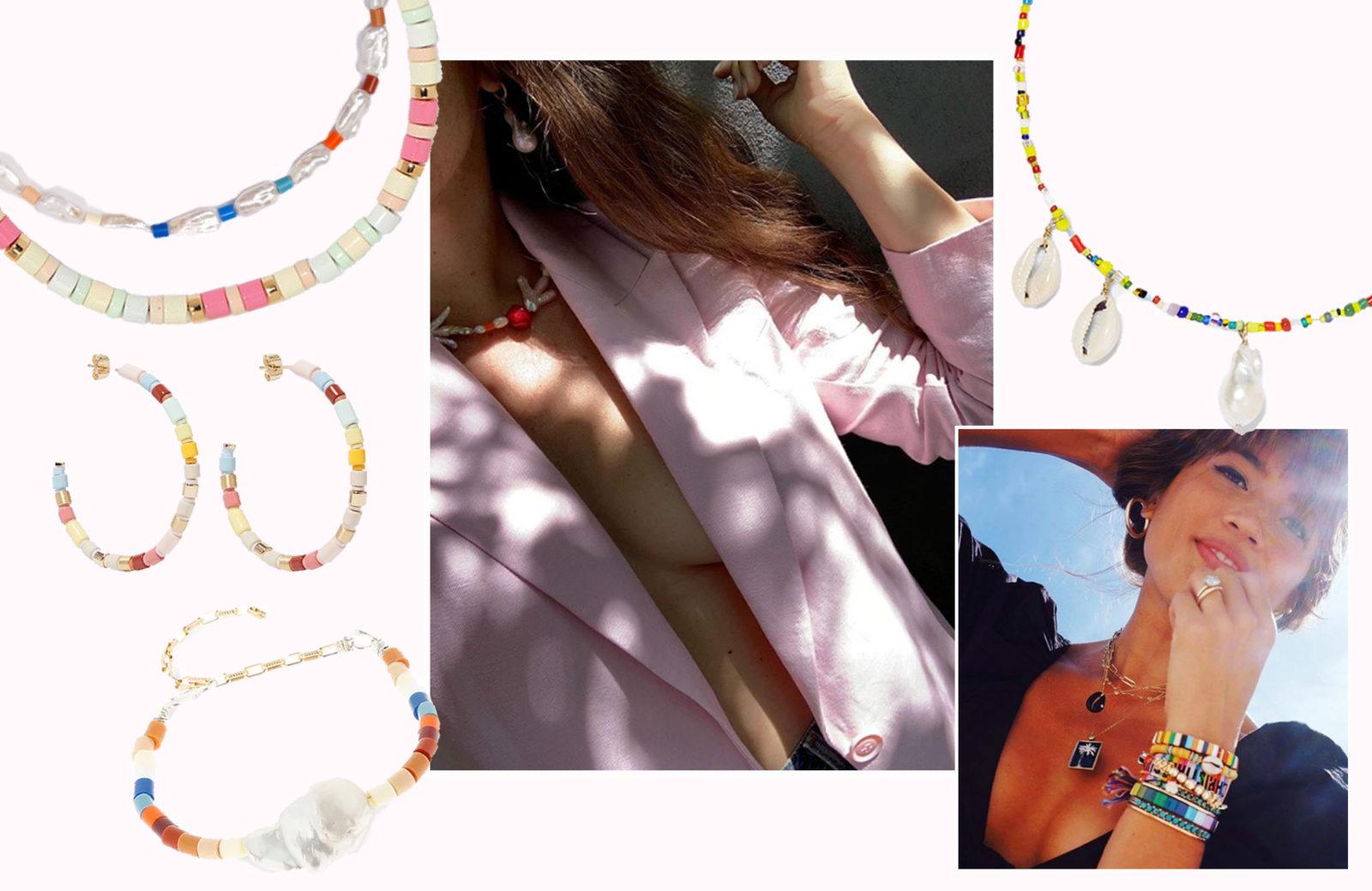 Shopping! Bunte Perlenketten