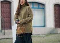 Outfit: Leoprinthose und der oversized Rollkragenpullover